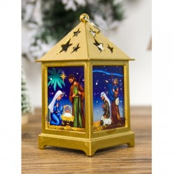 Christmas Tree Hollowed Star Printed Decorative Light