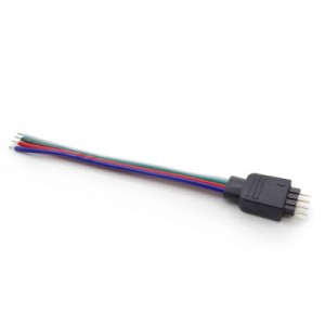 Male 4 Pin Solder Connector Plug for RGB LED Strip 2PCS