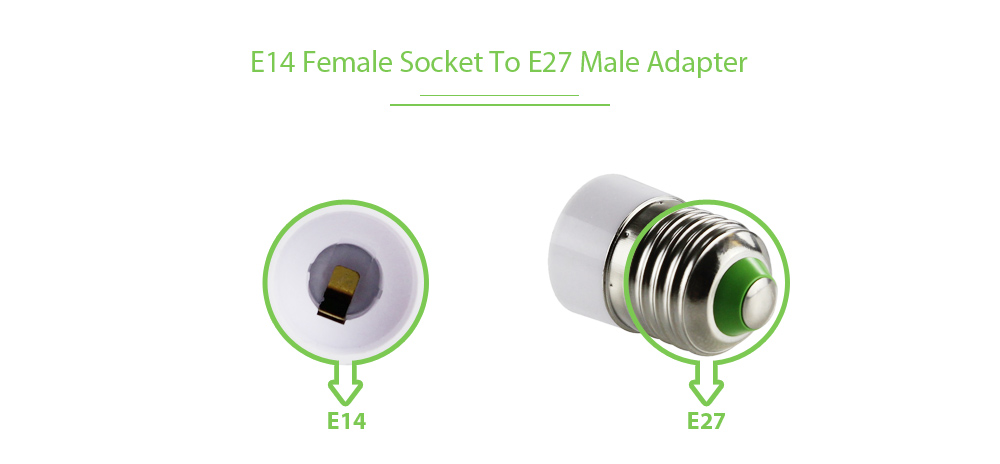 E27 to E14 LED Bulbs Lamp Holder Converter